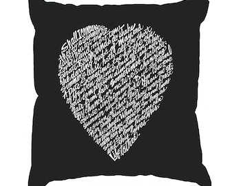 Throw Pillow Cover - Word Art - WILLIAM SHAKESPEARE'S Sonnet 18