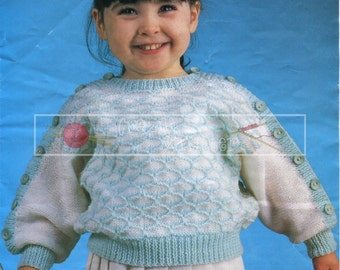 Baby Sweater 1-4 Years DK Sirdar 3474 Vintage Knitting Pattern PDF instant download