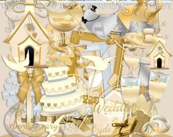 Wedding scrapbook, Anniversary scrapbook, Celebration Scrapbook, Golden scrapbook, Silver scrapbook, Instant Download