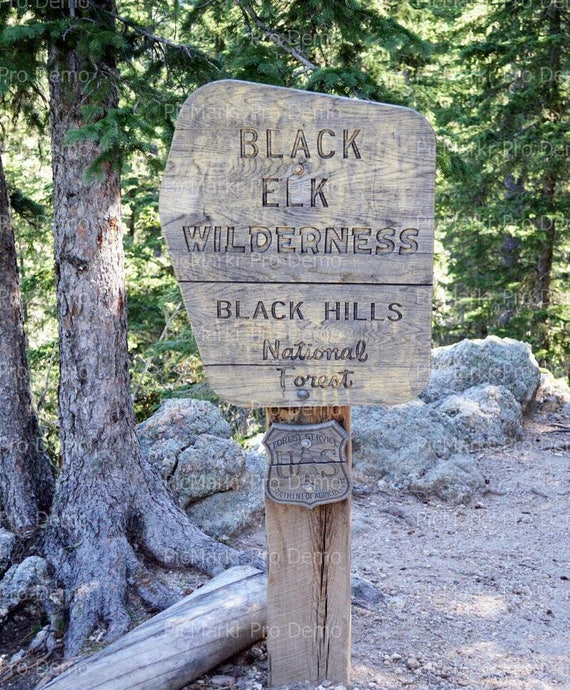 Black Hills Black Elk Wilderness Sign - Edible Cake and Cupcake Topper For Birthdays and Parties! - D20219