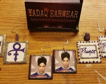 Prince Inspired Photo Earrings