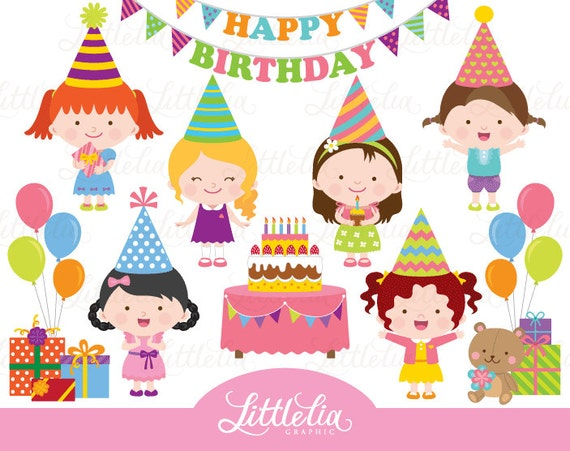 birthday girl clipart birthday clipart celebration clipart rh etsy com 1st birthday girl clipart birthday girl clipart free