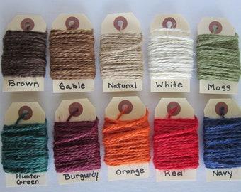 "4 - 5 yard Bundles Colored Jute Twine ""Your Color Choice"""