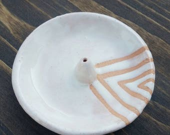 Triangle Incense Burner Ceramic Incense Dish White Incense Dish