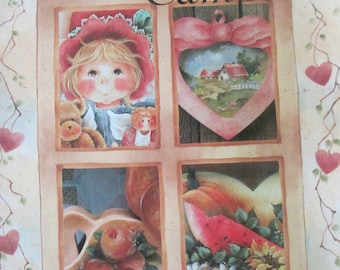 """1993 Decorative Folk Art painting """" Everyday Sampler book 1"""" by Elaine Thompson  used book 36 pages"""
