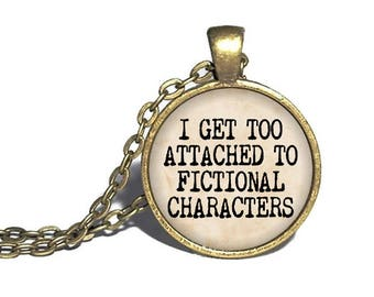 Book Necklace, Fictional Characters, Reader Book Lover, Library Reader Gift, Bookworm Present, Librarian Necklace, Reader Bracelet