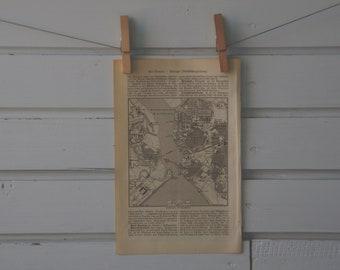 1894 Vintage Portsmouth Map