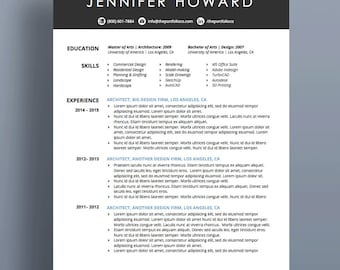 "Creative Resume Template | CV + Cover Letter | Modern, Functional Resume Designs | Mac or PC | Customizable (""Olivera"")"