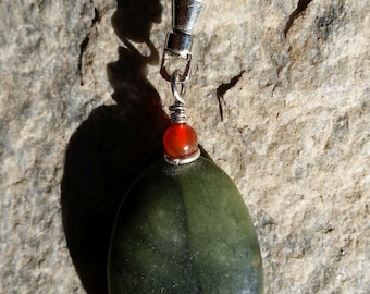 Handmade Stone and Silver Zipper Pull
