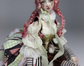 Porcelain BJD Doll Victorian Strawberry Clown Echo FHDolls Forgotten Hearts