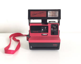 Vintage Stranger Things Black & Red Polaroid 600 Cool Cam Instant Film Camera