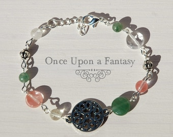 Pink and green bracelet - autumn Collection autumn 2015 Once Upon a Fantasy