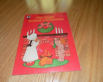 The Night Before Christmas Coloring Book Uncolored Merrigold Press