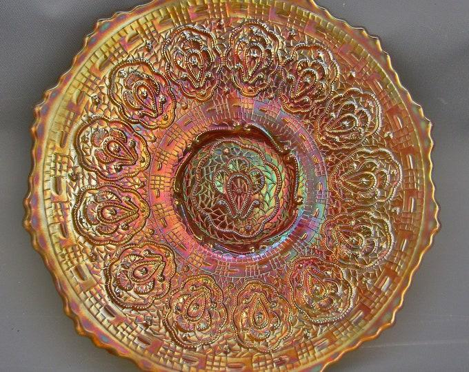 "Fenton Marigold Carnival Glass PERSIAN MEDALLION 6"" Plate"