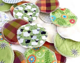 Zero waste makeup remover 7 reusable cotton rounds, washable facial cleansing pads - plastic free pads in wash bag for bridesmaids