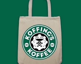 TOTE - Koffing's Koffe Starbucks Parody Pokemon Tote Bag