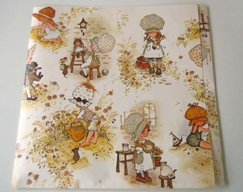 Vintage Holly Hobbie Wrapping Paper Birthday Gift Wrap Paper
