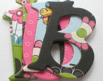 PETAL PUSHERS - Bo Bunny - Chipboard Letters  - Shabby Floral Alphabet