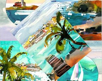 Vertical Art Prints - Seashore
