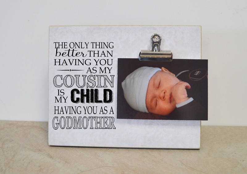Christening Gift Godmother Gift Custom Photo Frame Only