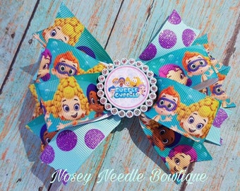 Bubble Guppies hair bow, Bubble guppies headband, Bubble Guppies headband, Bubble Guppies birthday party, Bubble Guppies outfit