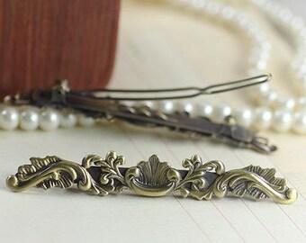 1 x bronze, retro hair clip (6657)