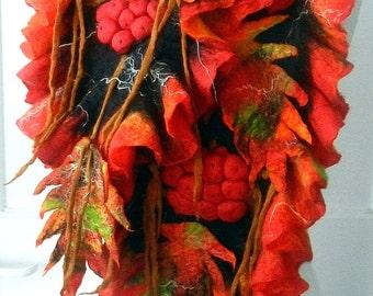 Nuno felted scarf -woman ART scarf ,shawl