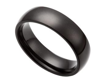 Stainless Steel Black Ring