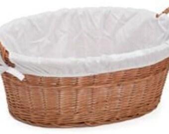 Laundry Wicker Basket Lined