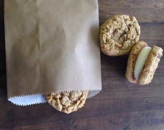 Wax lined Bakery Bags, Wedding Favor Cookie Bags, Trail Mix Bags, Nut Favor Bags, Coffee Bean Favor Bags, Pkg of 25