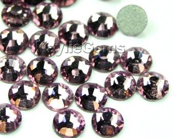 SS20 /4.8mm Flat Back Rhinestone Crystal Non-Hotfix Glue On Top Quaity 36 pcs -  Lt. Amethyst