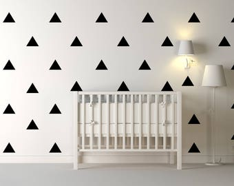 Triangles Wall Decal, 10 Set Decal, Nursery Wall Decal, Kid Wall Decal, Wall Vinyl Decal, Wall Decal, Vinyl Decal, Vinyl Wall Decals