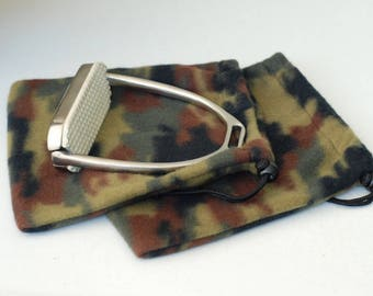 Ready to Ship - Camo equine Stirrup Covers saddle protection Handmade Horse Tack IRON COVERS storage bags
