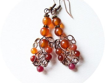 wire wrapped earrings tutorial - retro wire wrapping earrings tutorial - jewelry tutorial - tutorial VIII