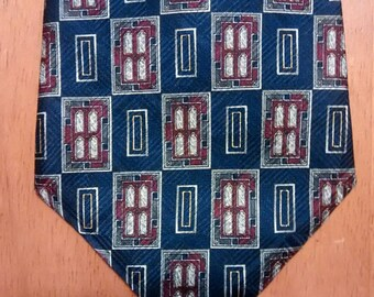 tie, necktie, COUNTESS MARA, 100% silk, vintage, retro, menswear, men, accessories, craft supplies, hipster
