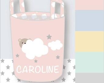 Nursery Décor-Personalized Storage Basket-Nursery Storage-Fabric Storage Bin-Baby Laundry Basket-Personalized Nursery-Baby Shower