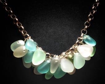 Sea Glass Jewelry / Beach Glass - Sea Glass Necklace