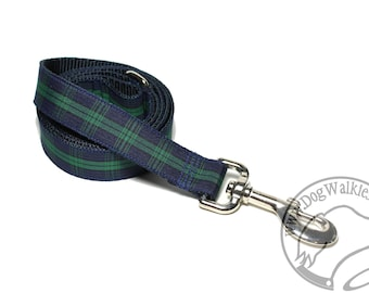 Black Watch Tartan Leash // Matching Tartan Dog Leash in all widths // Plaid Leashes // Tartan Lead // Blackwatch with Dark Edge