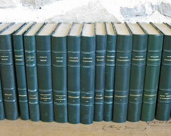 Pendennis by Thackery, 3 volume set of French hardback green books 1956
