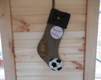 Sporty Yuletide Stocking