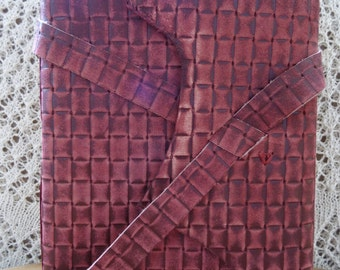 Leather journal/guest book, photo album burgundy