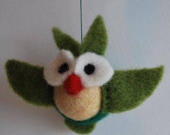 Mobilaria Christmas Bird Needle Felting Kit from De Witte Engel - Needle Felted Bird Kit - Needle Felted Owl Kit