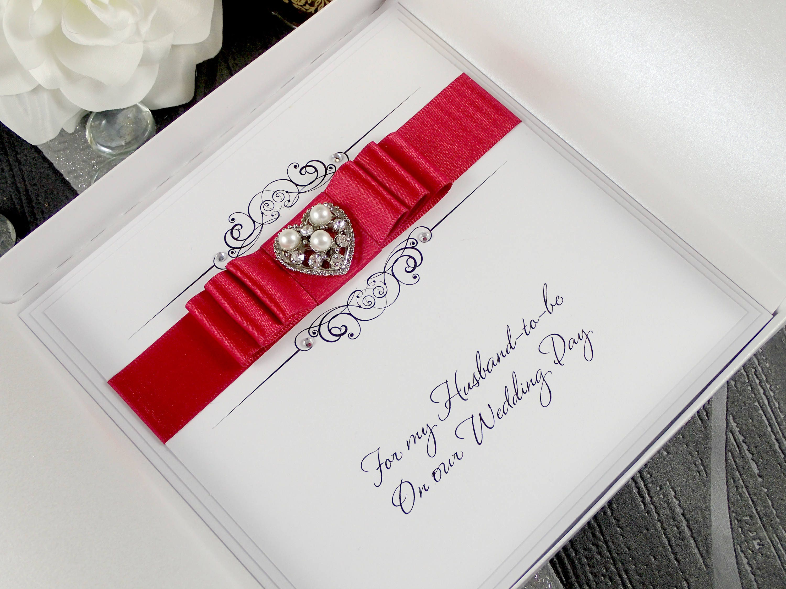 On Our Wedding Day Card Husband to be Card Wife to be Card