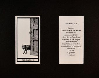 The Blue Dog - Matted Fantod Cards By Edward Gorey
