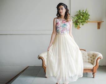 Tulle Bridal Skirt (Custom Colours Available)