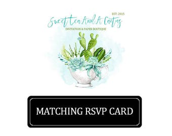 Matching RSVP card