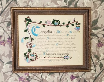 A Mother's Pride Inspirational Story Calligraphy by Gloria Rena Bartz