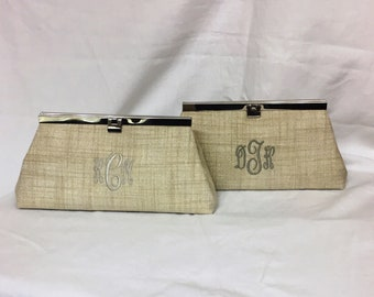 Straw and Silver Clutch