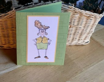 Funny birthday card for her, birthday card for women