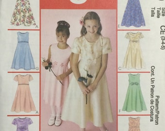 Girls Dress Pattern / UNCUT / McCalls 2590 / Girls Dress / Girls Easter Dress / Flower Girl Dress / Girls Special Occasion Dress